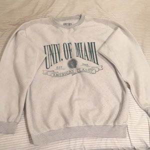 University of Miami crewneck sweater